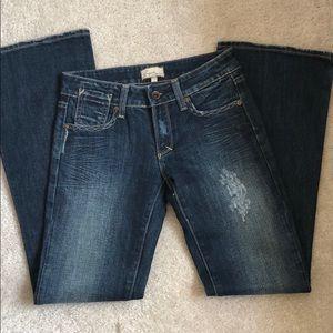 "Vigoss Boot Cut Flare 8""Rise Jeans Size 3/4"